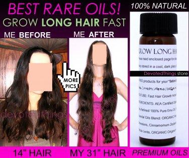 NATURAL GROW LONG HAIR FAST HAIR GROWTH OIL HAIR GROWTH SERUM DOUBLE SPEED WITH RARE OILS