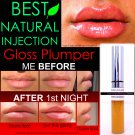 NATURAL INJECTION LIP PLUMPING GLOSS EXTREME REBUILDING LIP PLUMPER THAT WORKS CLEAR COLOR
