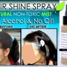 BEST HAIR SHINE SPRAY MIST GLOSS CLEAR ILLUMINATOR NO OIL NO ALCOHOL NATURAL NON TOXIC