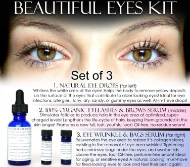 BEAUTIFUL EYES KIT SET OF 3 NATURAL PRODUCTS DISCOUNT