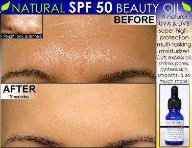 Natural SPF 50 Face Moisturizer Beauty Oil For Skin Lightening, Oily Skin Oil Control & More