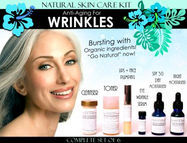 Natural Skin Care Kit Anti Aging For Wrinkles Anti Wrinkle Complete Set of 6