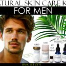 Natural Skin Care Kit For Men, Oily Skin, Enlarged Pores, and Acne Basic Set of 5