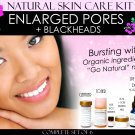 Natural Skin Care Kit For Enlarged Pores and Blackheads Pore Refining Complete Set of 6