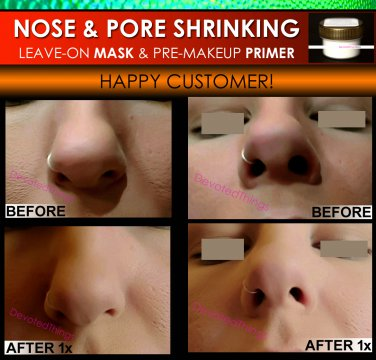 NOSE SHRINKING MASK & Pore Minimizing Primer Filler Makeup Trick Nose Job Without Surgery