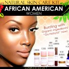 Natural Skin Care Kit for African American Black Women Skin Lightening and Toning Set of 7