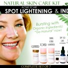 Natural Skin Care Kit For Acne Scar Spot Lightening and Pitted Scars Complete Set of 7