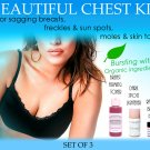 Beautiful Chest Kit for Women for Sagging Breasts Freckles Moles Skin Tags Set of 3