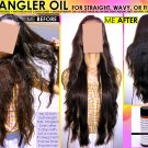 NATURAL CHEMICAL FREE HAIR DETANGLER OIL FOR STRAIGHT WAVY OR FINE HAIR DETANGLING