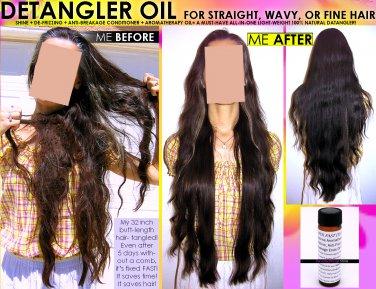 NATURAL CHEMICAL FREE HAIR DETANGLER OIL FOR STRAIGHT WAVY OR FINE HAIR DETANGLING