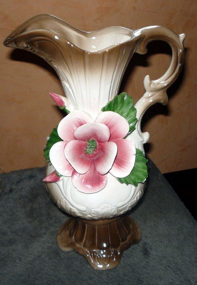 NUOVA CAPODIMONTE Rose Pitcher I.I.E. Exculsive Brown