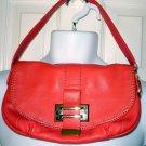 LIZ CLAIBORNE New York Jackie Demi Bag Salmon Pebbled Leather Purse Handbag