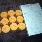 PARTYLITE Tealight MANGO TANGERINE Box of 12 NIB VO4154  FREE SHIPPING