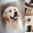 Pet dog portrait 50x70 cm drawing with pencil on paper commission handmade picture from Italy