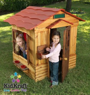 Kidkraft Outdoor Cottage Clubhouse Playhouse - New