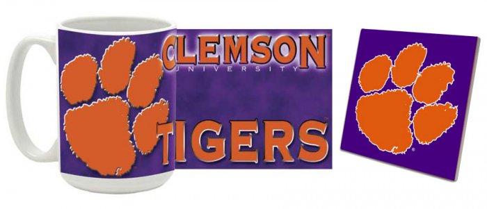 Clemson Mug and Coaster Combo MCC-SCCLEM1