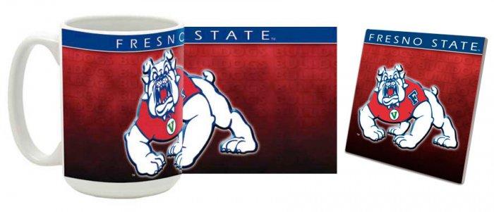 Fresno State Mug and Coaster Combo MCC-CAFSU1