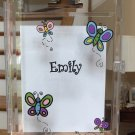 Acrylic Clipboard Busy Boxes BUTTERFLIES