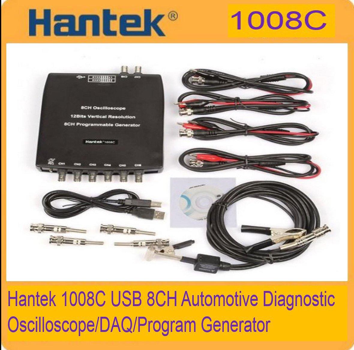 HANTEK 1008C PC USB 8CH Automotive Diagnostic Digital Oscillosco�pe/DAQ/Pro gen