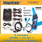 Combo 3 for Hantek 1008C + CC-65 AC/DC current clamp + BNC to 4 mm adaptor