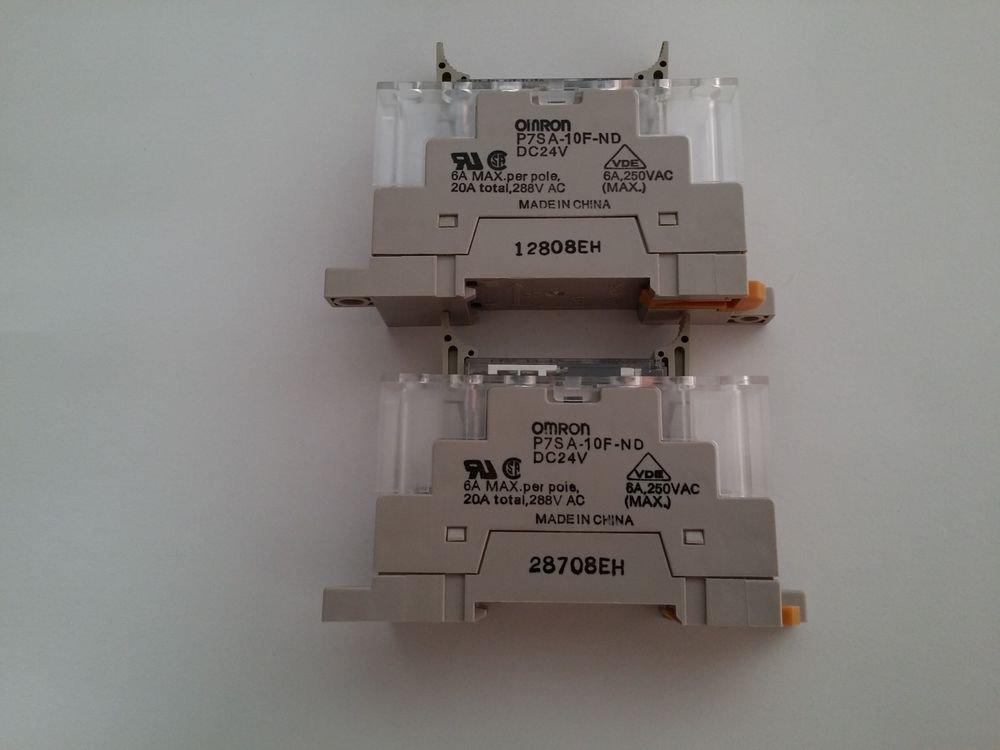 OMRON G7SA-2A2B RELAYS AND P7SA-10F-ND RELAY SOCKETS