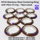KF40 Stainless steel Vacuum centering ring with O-ring = Viton (10 pcs pack)