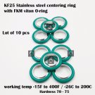 KF-25 NW-25 vacuum center Ring  made of SS304, O-ring = FKM viton (lot of 10pcs)