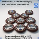 "KF16 Stainless steel 304 Centering Ring 0.63"" 16mm  viton O-ring (10 pcs pack)"
