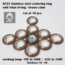 KF-25 NW-25 vacuum center Ring  made of SS304, O-ring = Viton (lot of 10pcs)