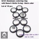 "10PCS KF-25 NW-25 Aluminum vacuum Centering Ring 0.984""  with Buna-N O-ring"