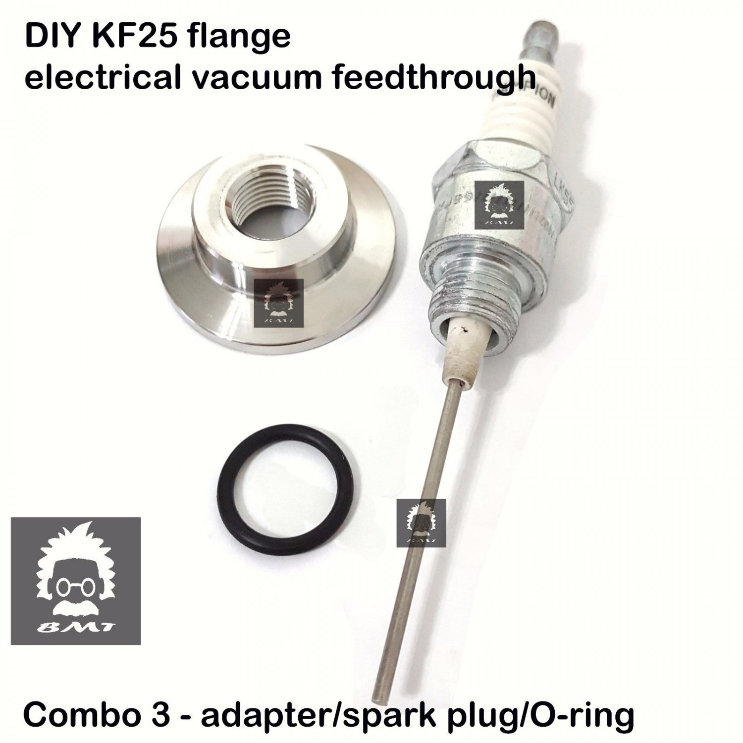 DIY KF25 electrical feed through, M14 x 1.25 adapter + industrial spark plug 2