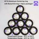 "KF16 Aluminum Centering Ring 0.63"" 16mm  Buna-N O-ring (10 pcs pack)"