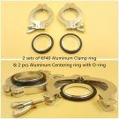 Lot of 2 sets KF-40 Aluminum vacuum Clamp Ring + Al Centering ring w/ O-ring