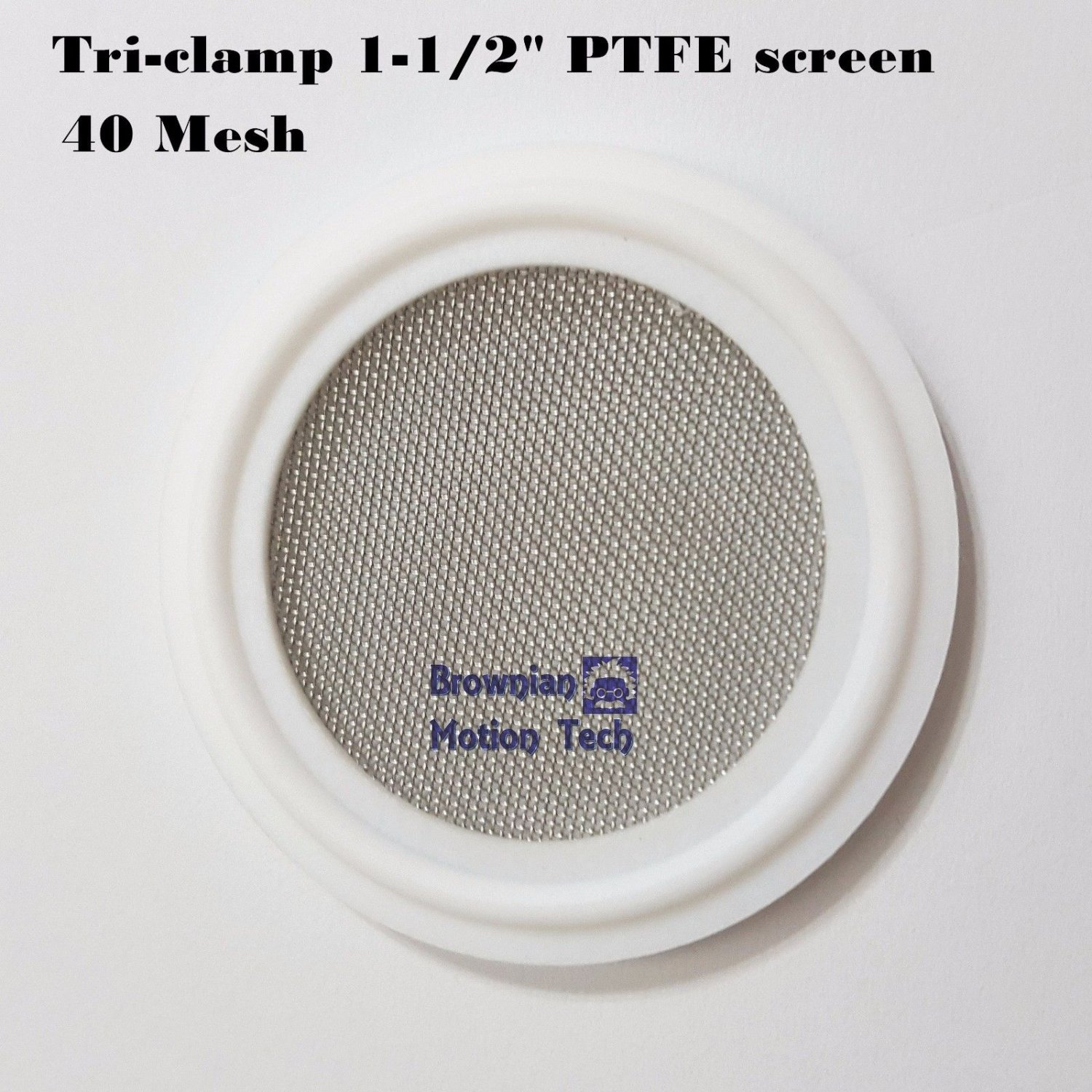 """Sanitary 1.5"""" Tri-Clamp PTFE  Screen Gasket  w/ 40 mesh for close loop extractor"""
