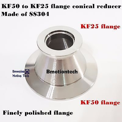 KF50 (NW50) to KF25 (NW25) Flange vacuum conical reducer, Stainless steel 304