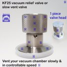 KF25 flange stainless steel vacuum vent valve or relief valve chamber venting