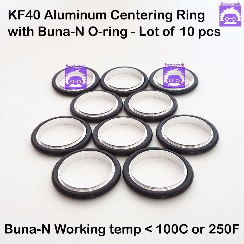 KF40 Aluminum Vacuum Centering Ring with O-ring = Buna-N  �10pcs pack)