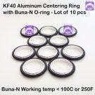 KF40 Aluminum Vacuum Centering Ring with O-ring = Buna-N  (10pcs pack)