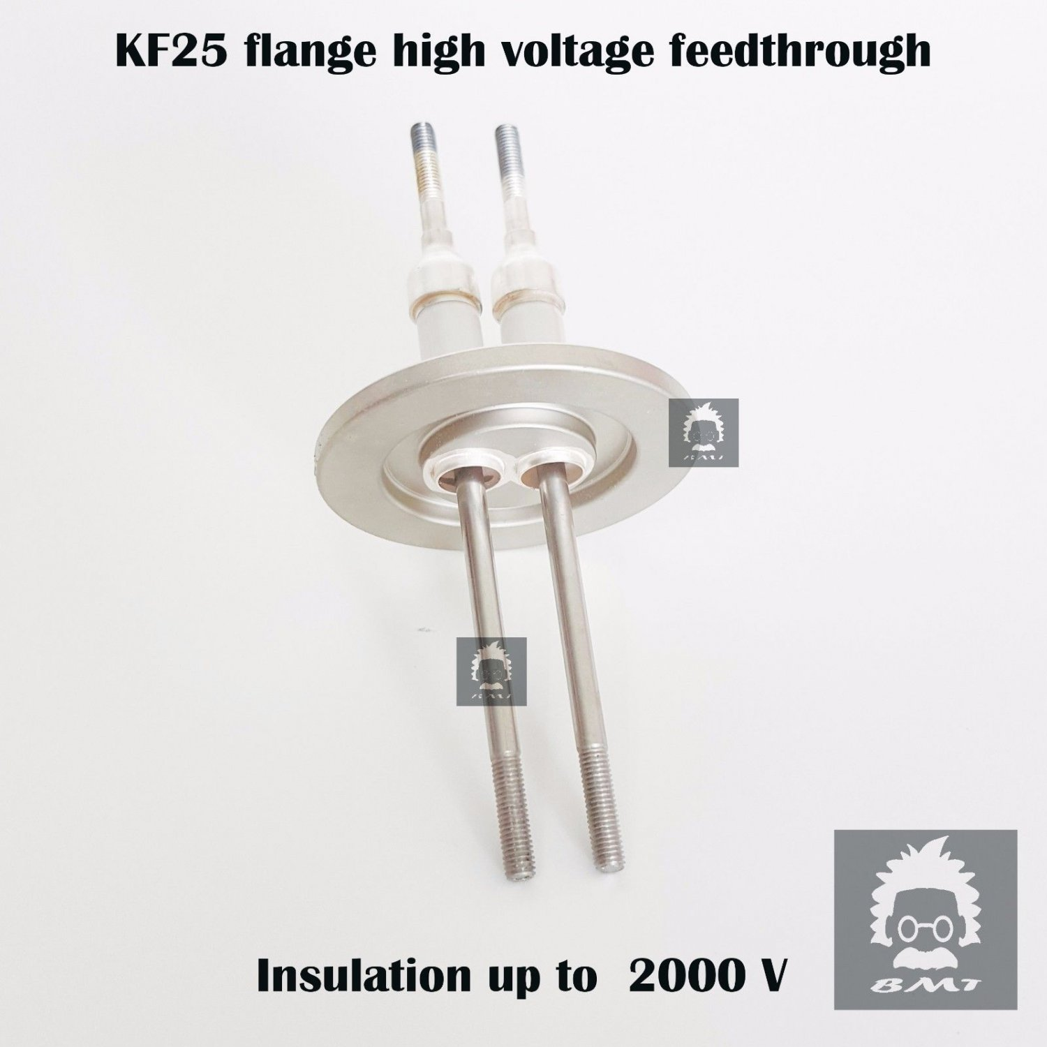 KF25 flange electrical high voltage vacuum feed-through 2 Pole insulation 2KV
