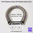 KF16 flange Stainless steel 304 vacuum flexible bellow hose wall thk = 0.2mm SHR