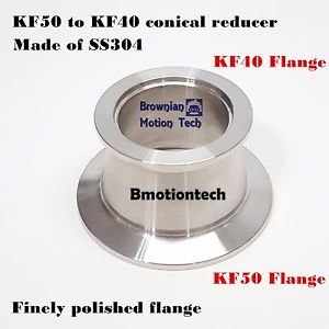 KF50 (NW50) to KF40 (NW40) Flange vacuum conical reducer, Stainless steel 304