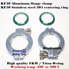 2 sets KF50 Aluminum vacuum clamp ring + SS304 center ring with FKM viton O-ring