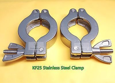 Lot of 2 sets KF-25 Stainless Steel 304 vacuum clamp - Stronger than Al version