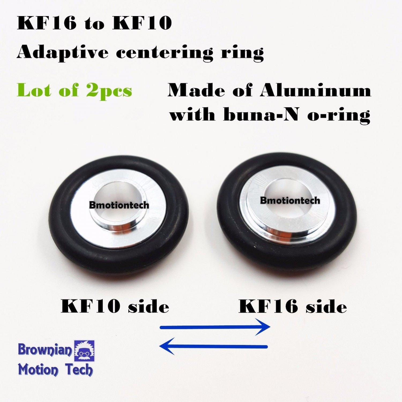 Lot of 2pcs KF16 to KF10 adaptive Aluminum entering Ring w/ Buna-N- O-ring