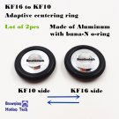 Lot of 2pcs KF16 to KF10 adaptive Aluminum entering Ring w/ Buna-N- O-ring