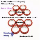 KF-25 NW-25 vacuum center Ring  made of SS304, O-ring = Silicone (lot of 10pcs)