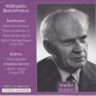 Wilhelm Backhaus Plays Beethoven and Brahms - MELOCLASSIC CD Release 2014