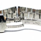24mm SOLID Heavy Polished Stainless Steel Bracelet Fits Breitling Super Avenger