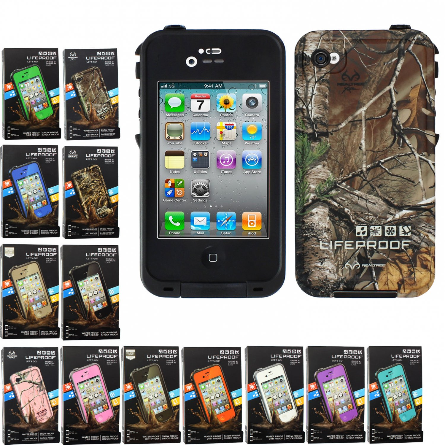 outlet store 01c5c 39edd NEW! Lifeproof fre Waterproof Case for iPhone 4S & iPhone 4 w Authentic  Serial