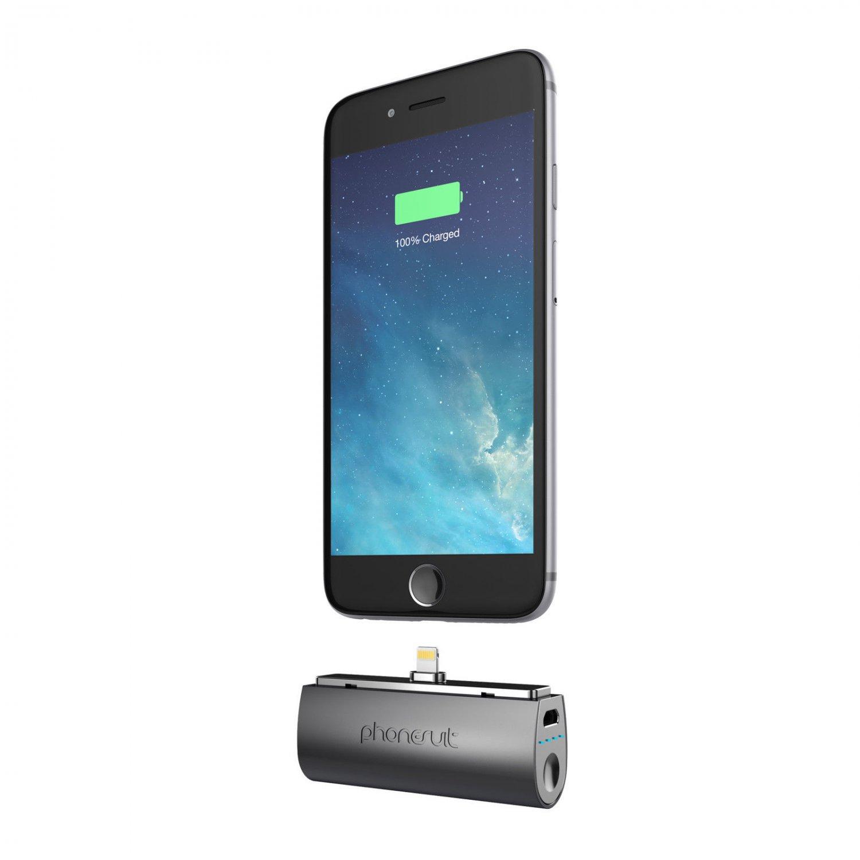 NEW ! PhoneSuit Black Flex XT Pocket Portable Battery Charger IPHONE 6 - 6 PLUS